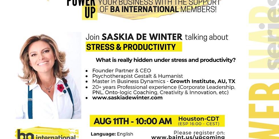 SASKIA DE WINTER - STRESS & PRODUCTIVITY