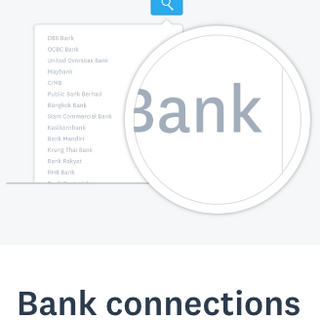 Bank connections