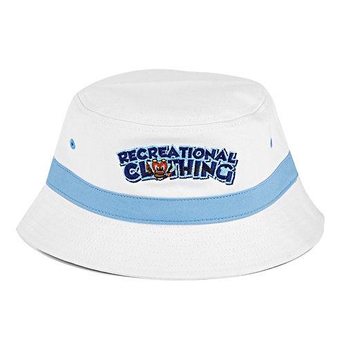 White/Sky Blue Bucket Hat