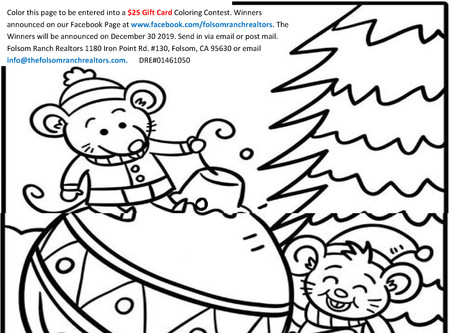 Enter our December Coloring Contest