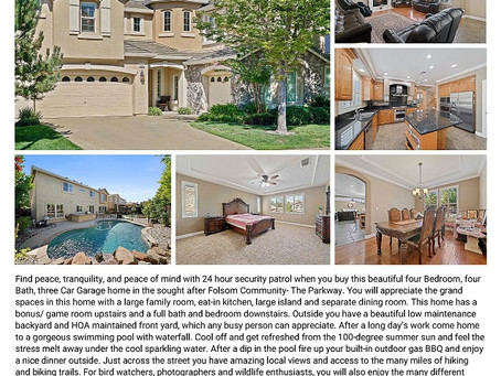Just Listed- Parkway in Folsom
