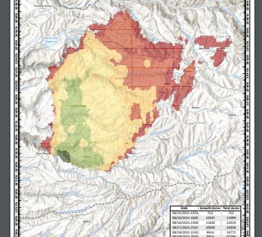 Caldor Fire Growth