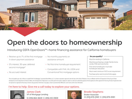 7% Buyer Down Payment and Closing Cost Assistance