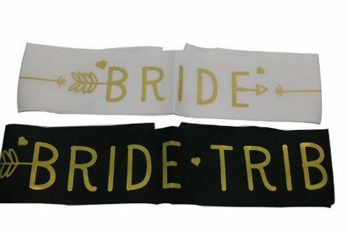 """Bride Sash """"Bride Tribe"""""""