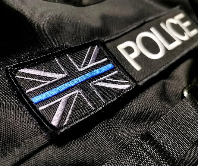 Thin Blue Line Union Jack morale patch
