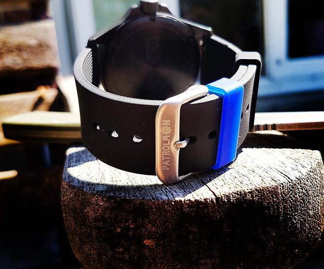 Thin Blue Line silicone strap