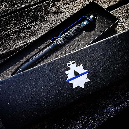 Twist lock Thin Blue Line Tactical pen