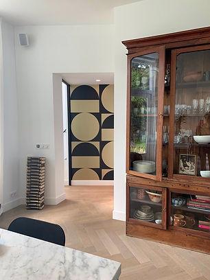 Woonhuis Bloemendaal, renovatie, behang, kleuradvies, Arte