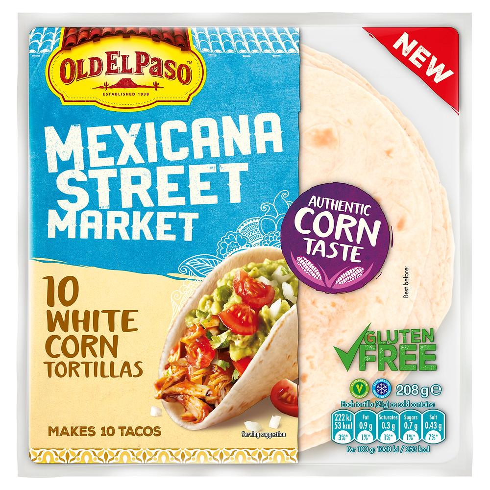"Old El Paso ""Mexicana Street Market"" corn tortillas in packaging"