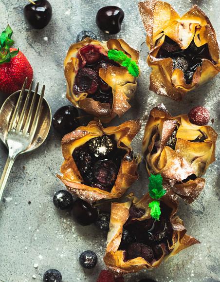 Mixed berries filo Parcels