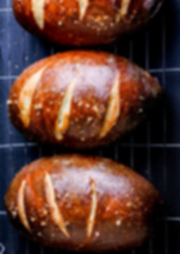 Pretzel loaves