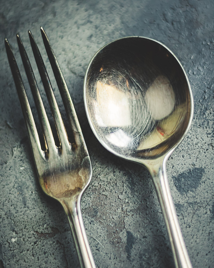 Tarnished Fork and Spoon