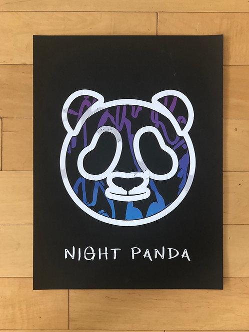 "Night Panda Poster 18"" x 24"""