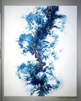 "Commission   Blue Eyes   48 X 60"""