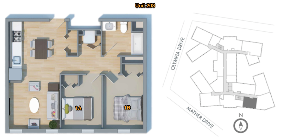 Room Choice Floor Plan with Site Plan