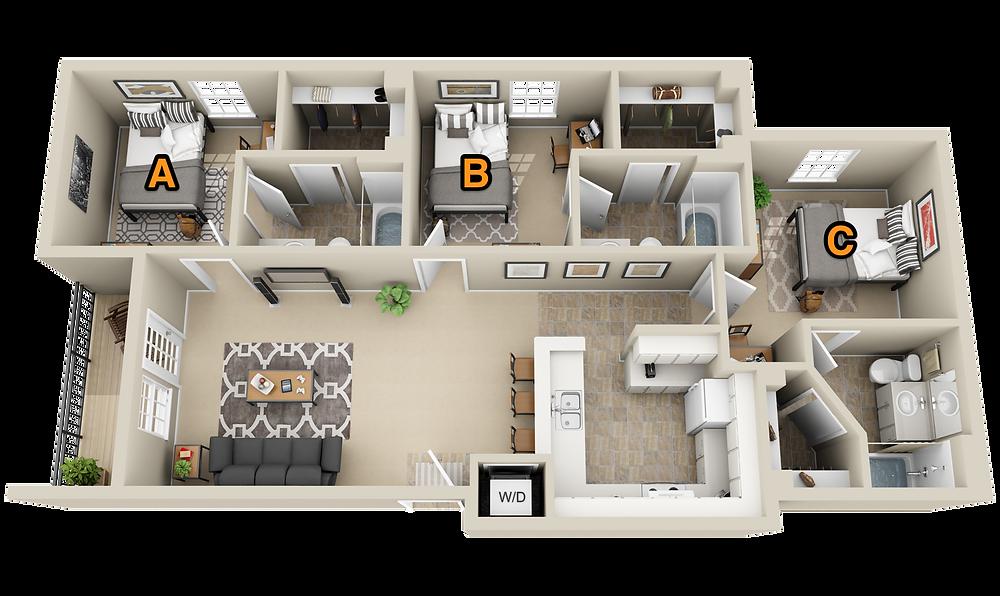Room Choice Floor Plan