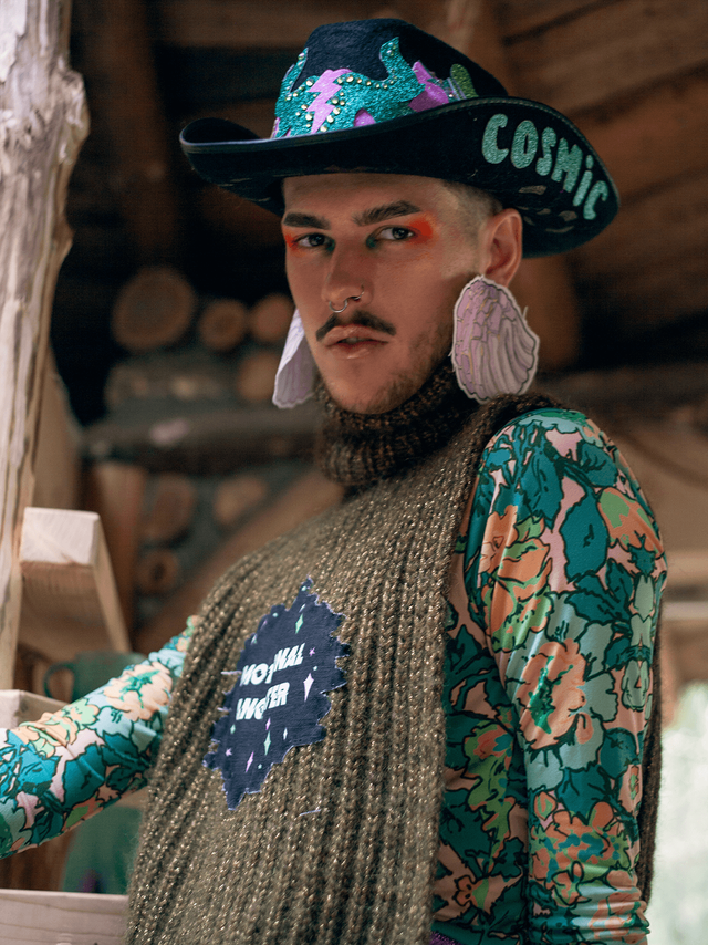 Flesh-cowboyhat-knitwear-handmade-norway