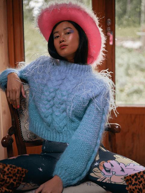 Flesh-knitwear-mohair-lightweight-clothi