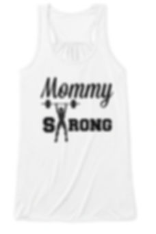Mommy Strong Racerback Tank