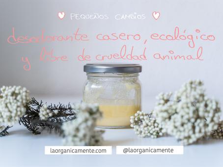Pequeños cambios: desodorante casero, ecológico y libre de crueldad animal
