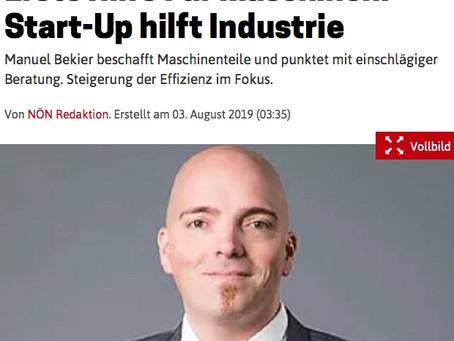 """Die FAIS GmbH in der Presse, """"Erste Hilfe für Maschinen"""""""