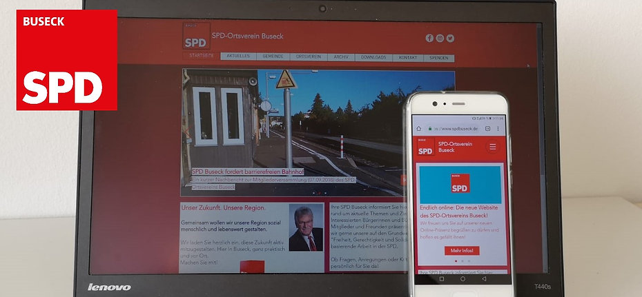 Neue SPD Buseck Website