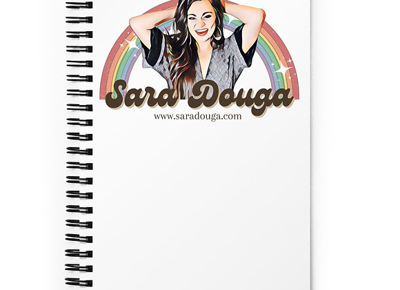 Sara Rainbow Spiral notebook