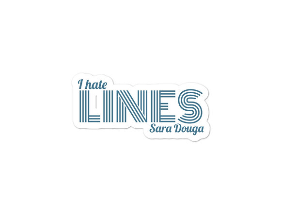 """""""I hate LINES"""" Sticker"""