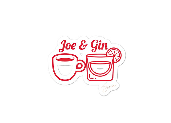 """Joe & Gin"" Bubble-free stickers"