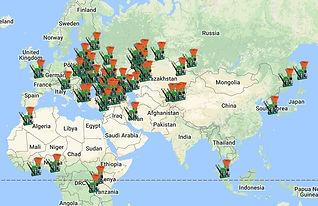 клиенты 5bricks на карте