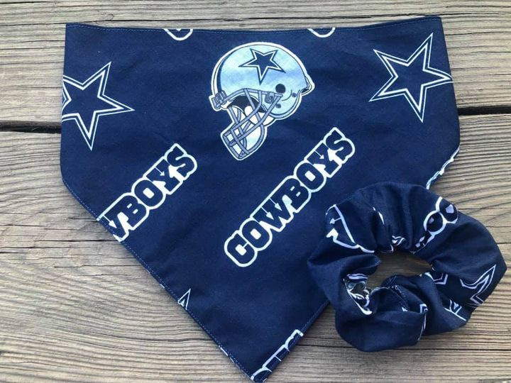 Dallas Cowboys dana with matching scrunchie for you!