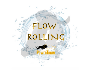 Water in circle with BJJ athletes training to flow roll