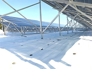 太陽光発電所両面パネルシート