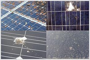 太陽光モジュール汚れ