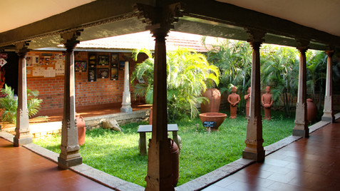 A JOURNEY THROUGH THE  ARCHITECTURE OF DAKSHINACHITRA   MUSEUM, CHENNAI