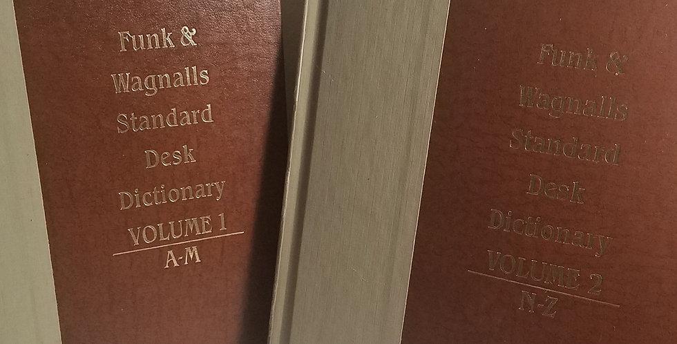 Funk & Wagnall Desk Dictionary Set (Vols. 1-2) 1985 Edition