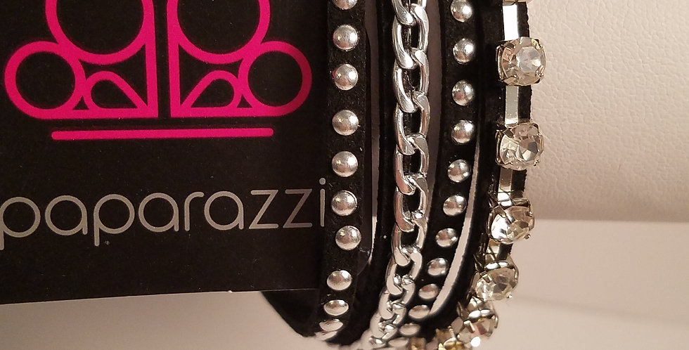Black and bling-Paparazzi Accessories-I am NOT a consultant