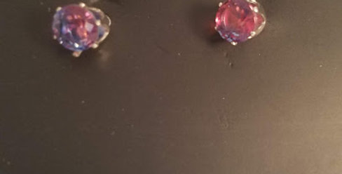Simple Purple Stone kid's earring-Paparazzi Accessories-I am NOT a consultant