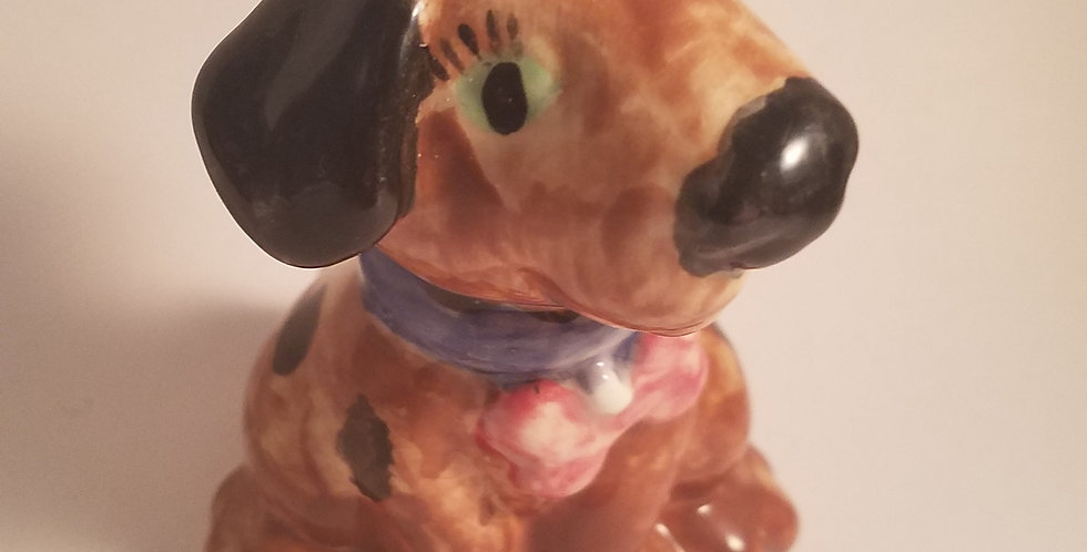 Hand painted brown puppy
