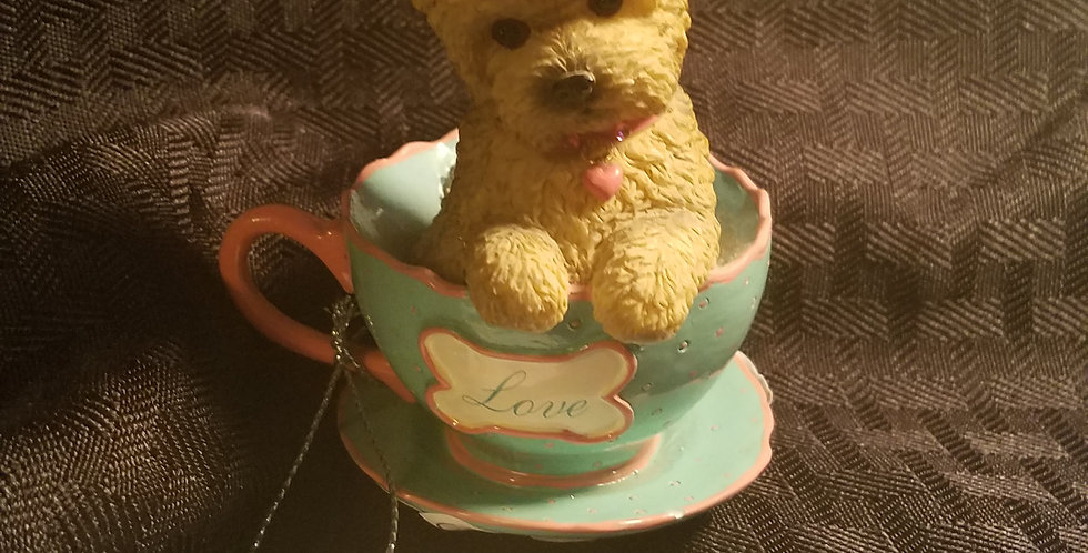 Collection Piece!-Brimming with Personality-tea Cup of love-Yorkie