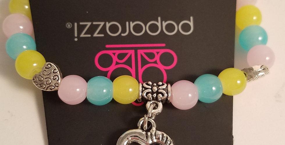 Cotton candy heart bracelet-Paparazzi Accessories- I am NOT a consultant