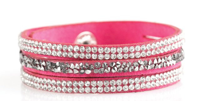 Mega Glam Pink Wrap-Paparazzi Accessories- I am NOT a consultant