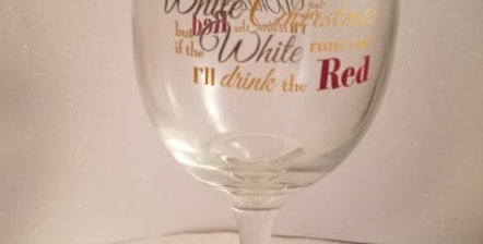 I'm dreaming of a white Christmas wine glass