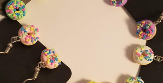 Doughnut  Fishhook earrings-Paparazzi Accessories-I am NOT a consultant