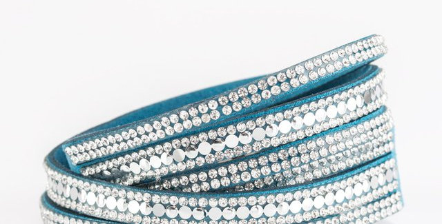 Rock Star Attitude Blue Double Wrap Bracelet- I am not a consultant