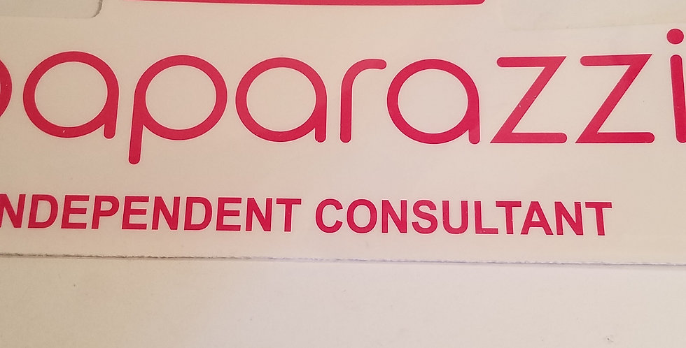 Paparazzi Independent Consultant car sticker-I am NOT a consultant