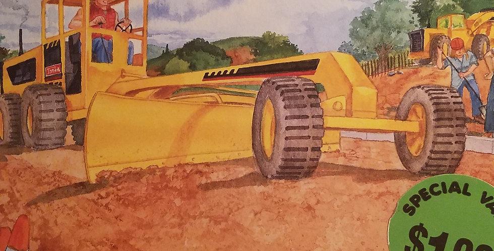Tonka building a road