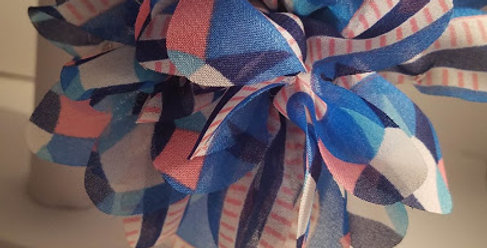 Blue and Pink Flowered headband-Paparazzi Accessories-I am NOT consultant