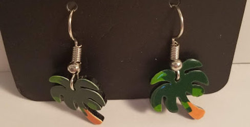 Tropical Tree Fishhooks-Paparazzi Accessories-I am NOT a Consultant