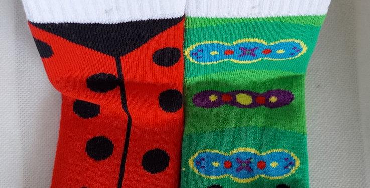 Ladybug and Caterpillar children's socks